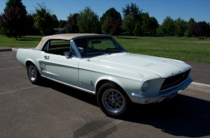 Stock 1967 Ford Mustang Convertible