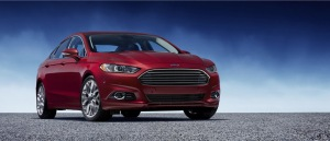 2013 Ford Fusion, red