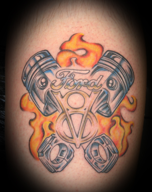 V8 Engine Tattoo Designs Ford Tattoos: The Ulti...